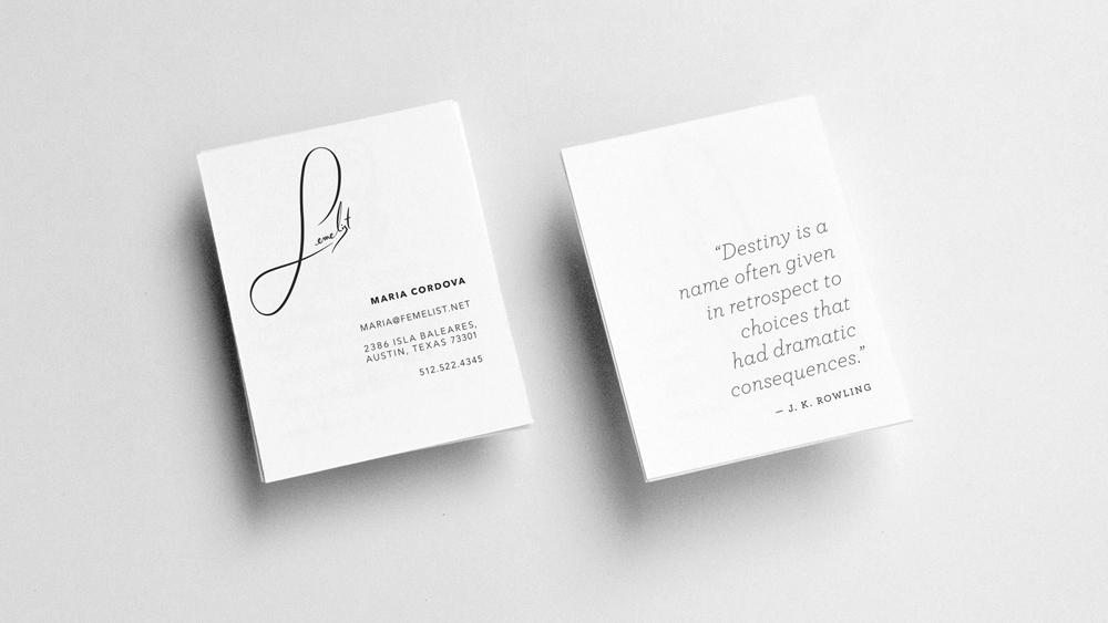 FEMELIST - branding &implementation design