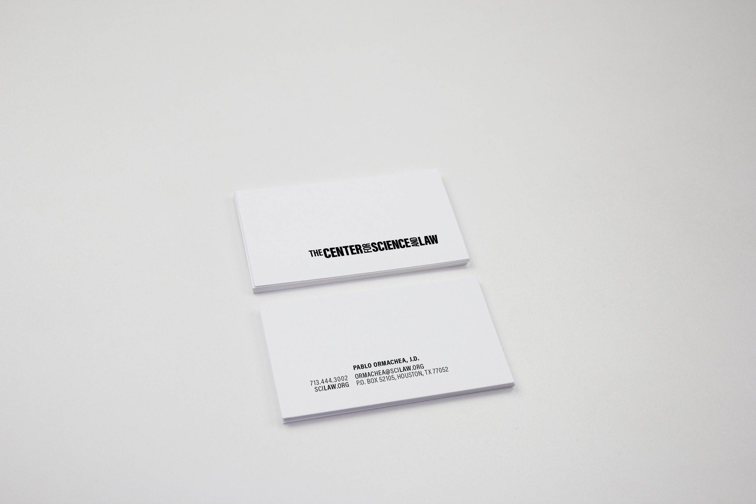 the CENTER FOR SCIENCE AND LAW - branding &implementation design