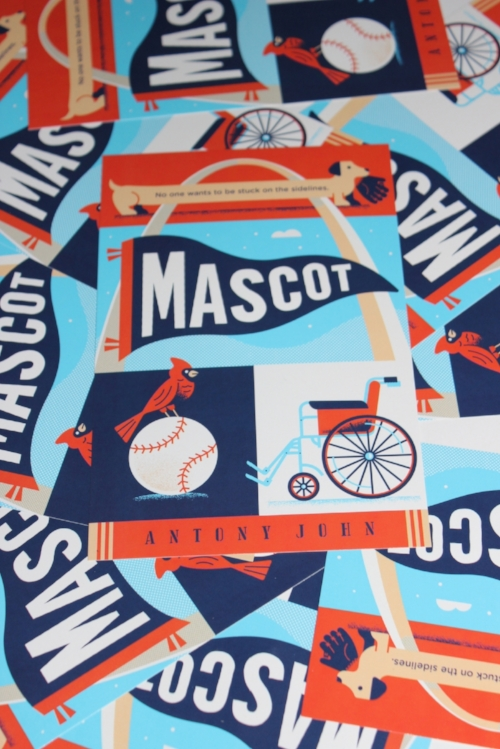 Free Mascot stuff - Is your class reading Mascot?Great! Drop me a line and let's Skype. Visits of up to 30 minutes are completely free.Would your readers like an autographed copy of the Mascot book cover (in kid-proof card stock, like the ones in this photo)? Just email me or use the contact form and I'll mail one for every kid in your class. Bonus: If you send me your students' names, I'll even personalize them (the book covers, not your students).