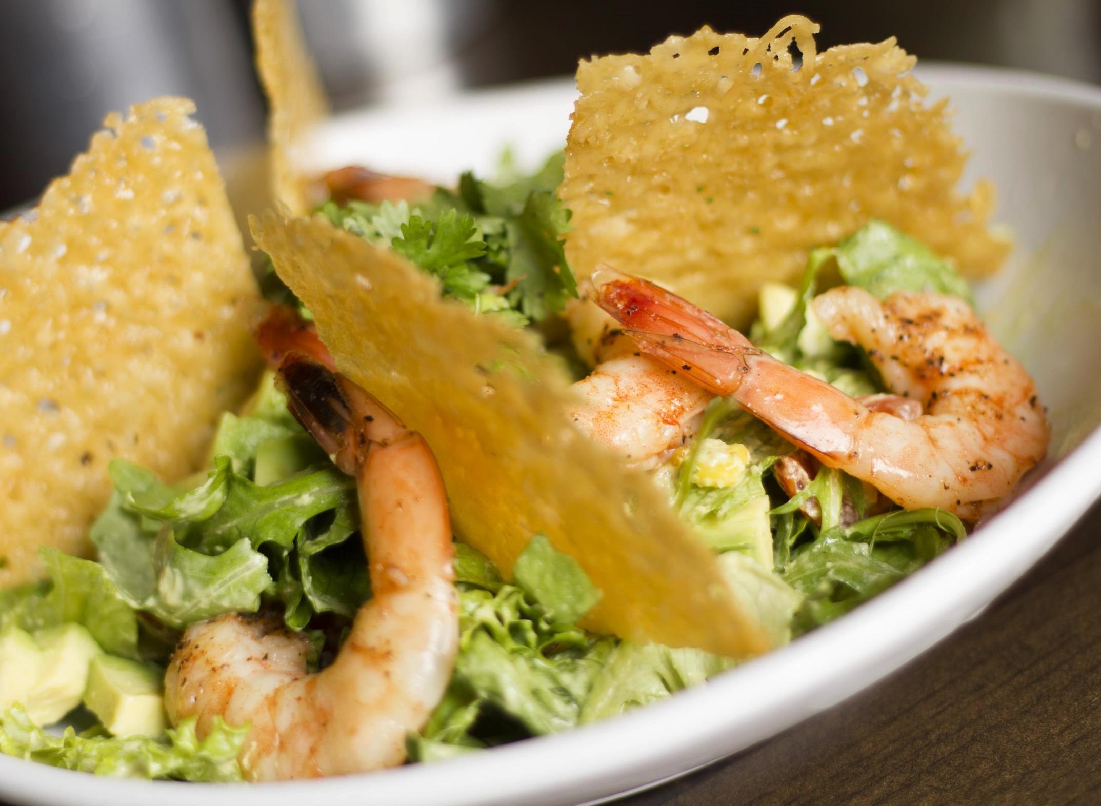 Stockyard Burgers and Bones Smoked Shrimp Salad