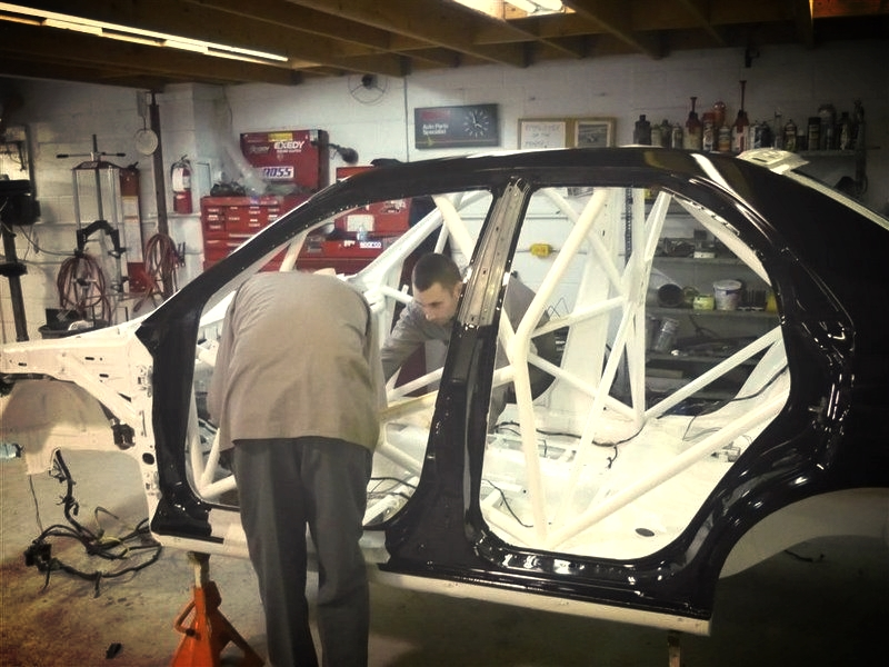 Car Assembly In Process