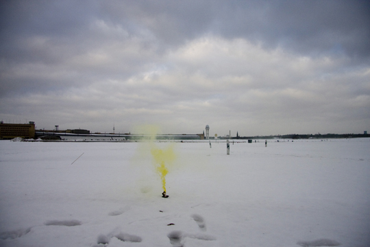 Untitled (Berlin Smoke Actions) 2011