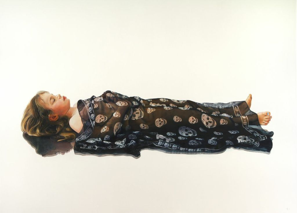Michael Zavros,  Phoebe is Dead,  2010, oil on canvas, 1100 x 1500 mm