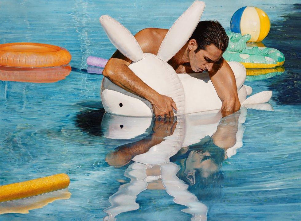 Michael Zavros,  Bad Dad  2103, oil on canvas, 1100 x 1500 mm