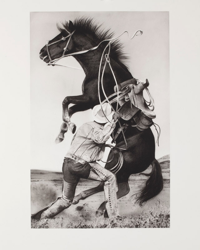 Michael Zavros,  Prince/Zavros , 2014, charcoal on paper, 1220 x 860 mm