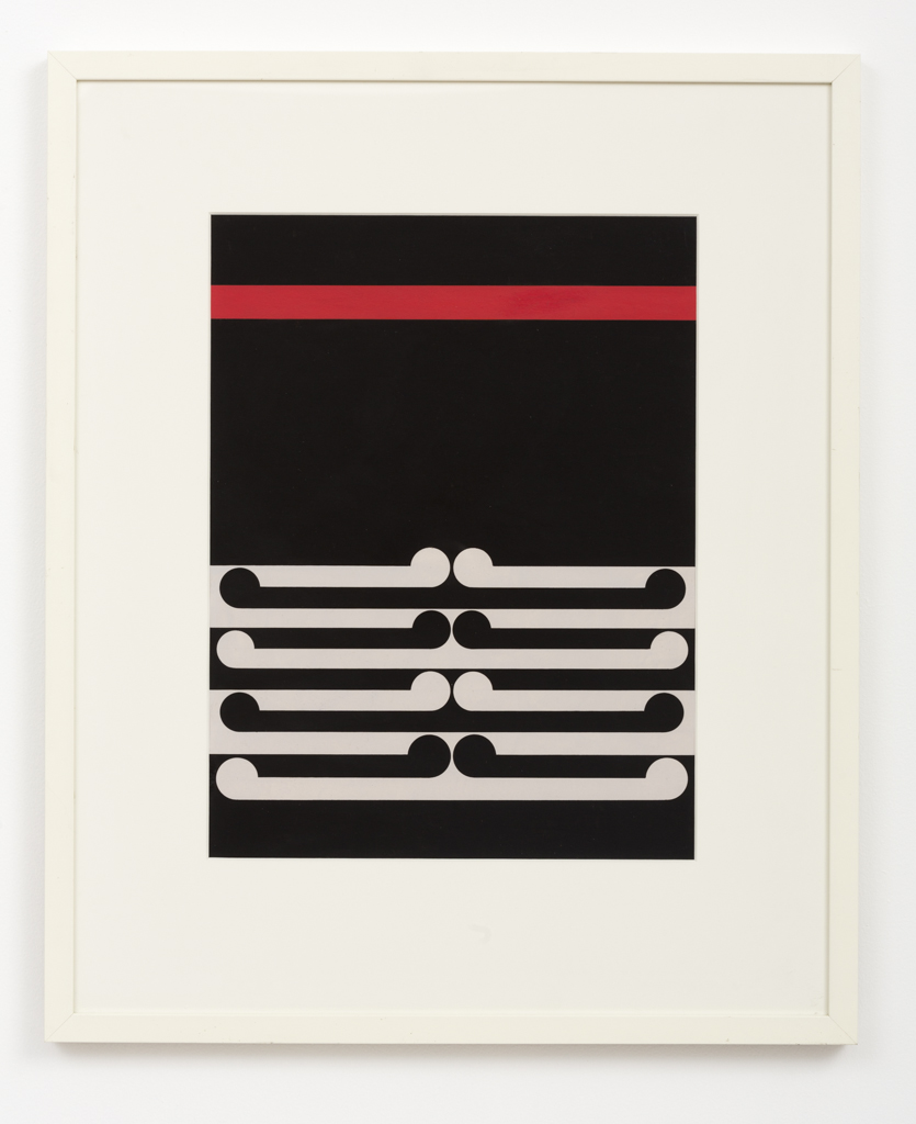 Gordon Walters,  Untitled , 1978, acrylic on paper, 340 x 450 mm, courtesy of the Walters Estate