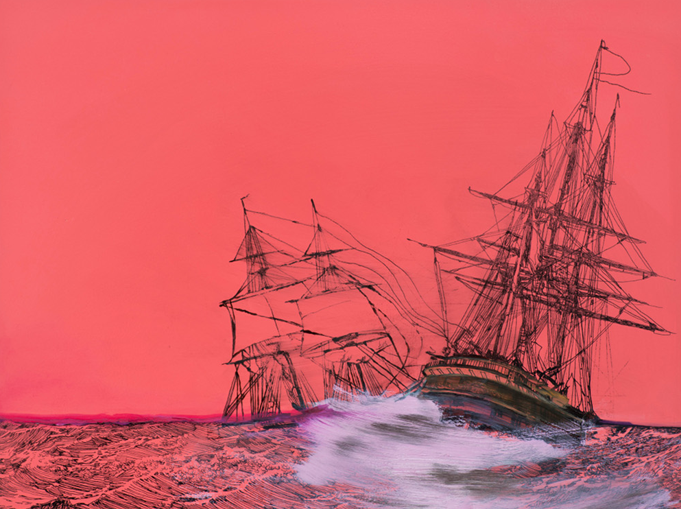 Whitney Bedford,  Untitled Ship (Seduction),  2011, oil on board 94 x 71cm. Photo: Evan Bedford