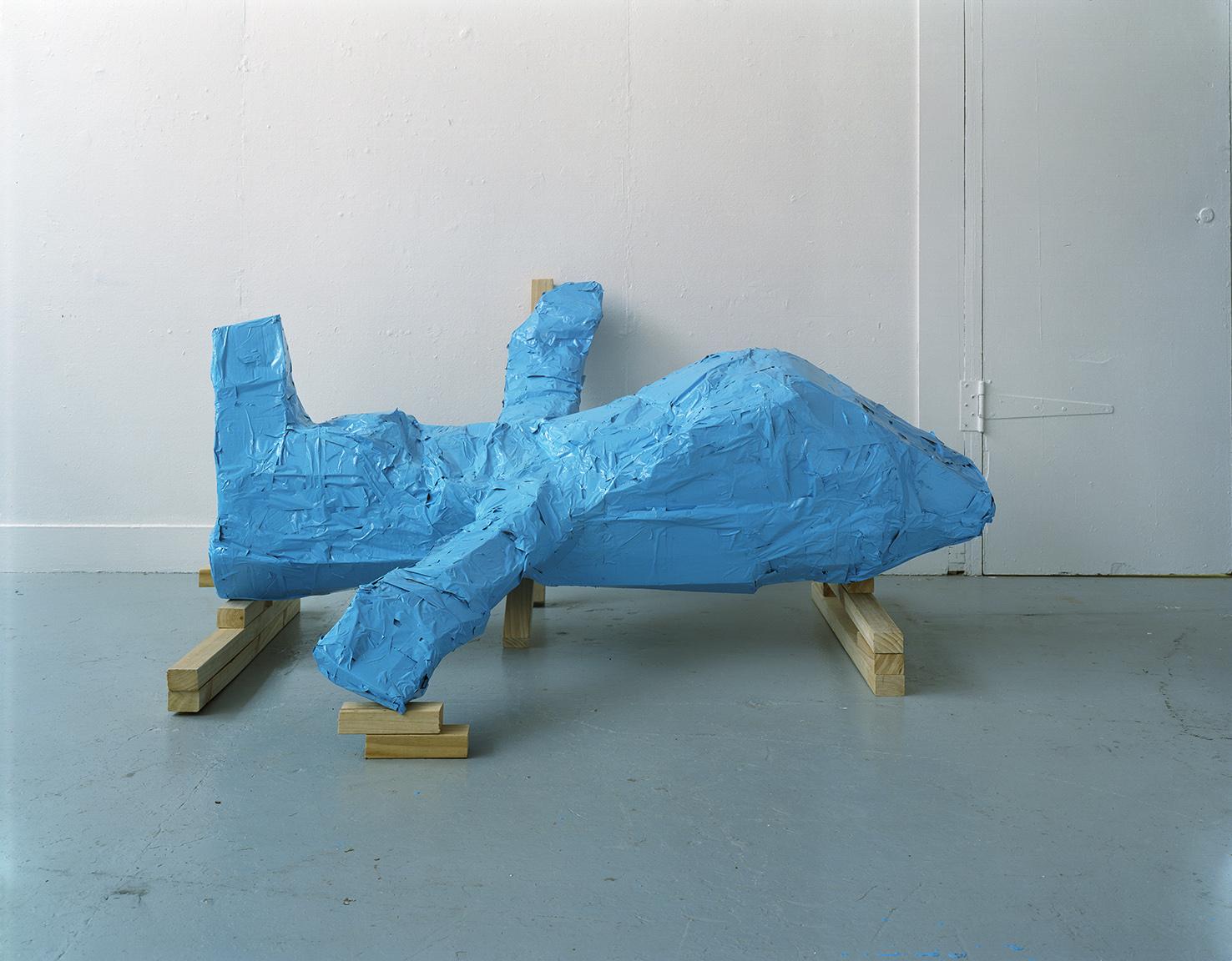 Blue Plane, 2000, colour photograph, 750 x 1000mm.