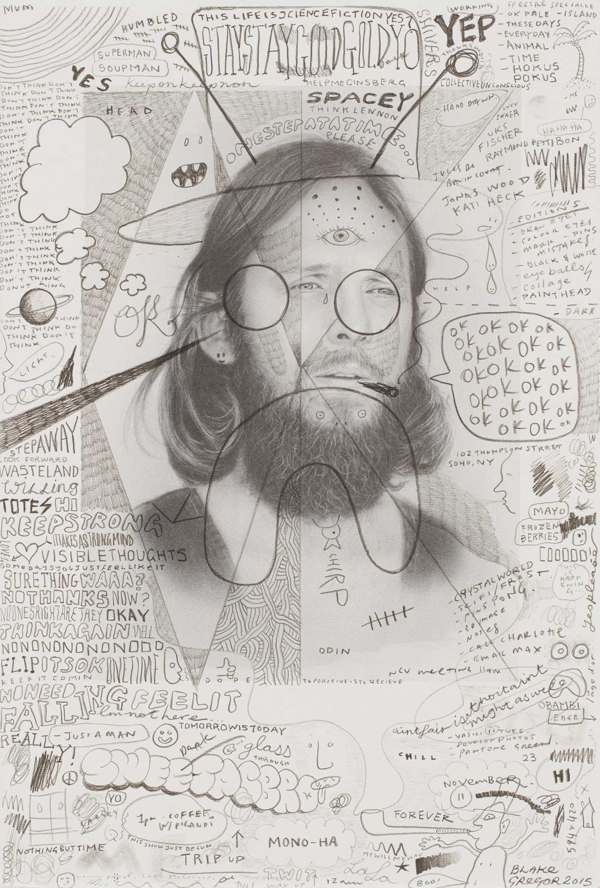 Laith McGregor,  Ohne Titel , lithograph, two lithographic plates, one hand-drawn by the artist and one photo-lithographic, printed in an edition of 20 plus proof, mage size 560 x 380 mm, paper size: 560 x 380 mm