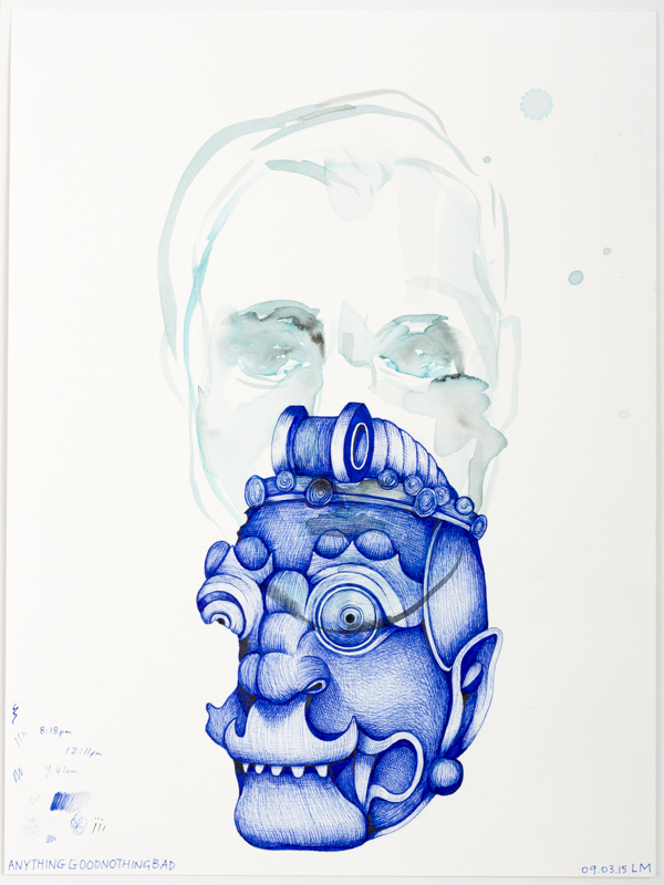 Laith McGregor,  Anything Good Nothing Bad ,  2015, watercolor and pen on paper, A4