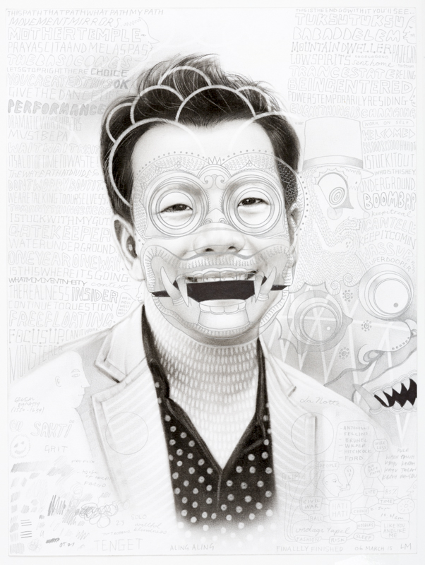 Laith McGregor, Terry, 2015, pencil on paper, 460 x 360 mm