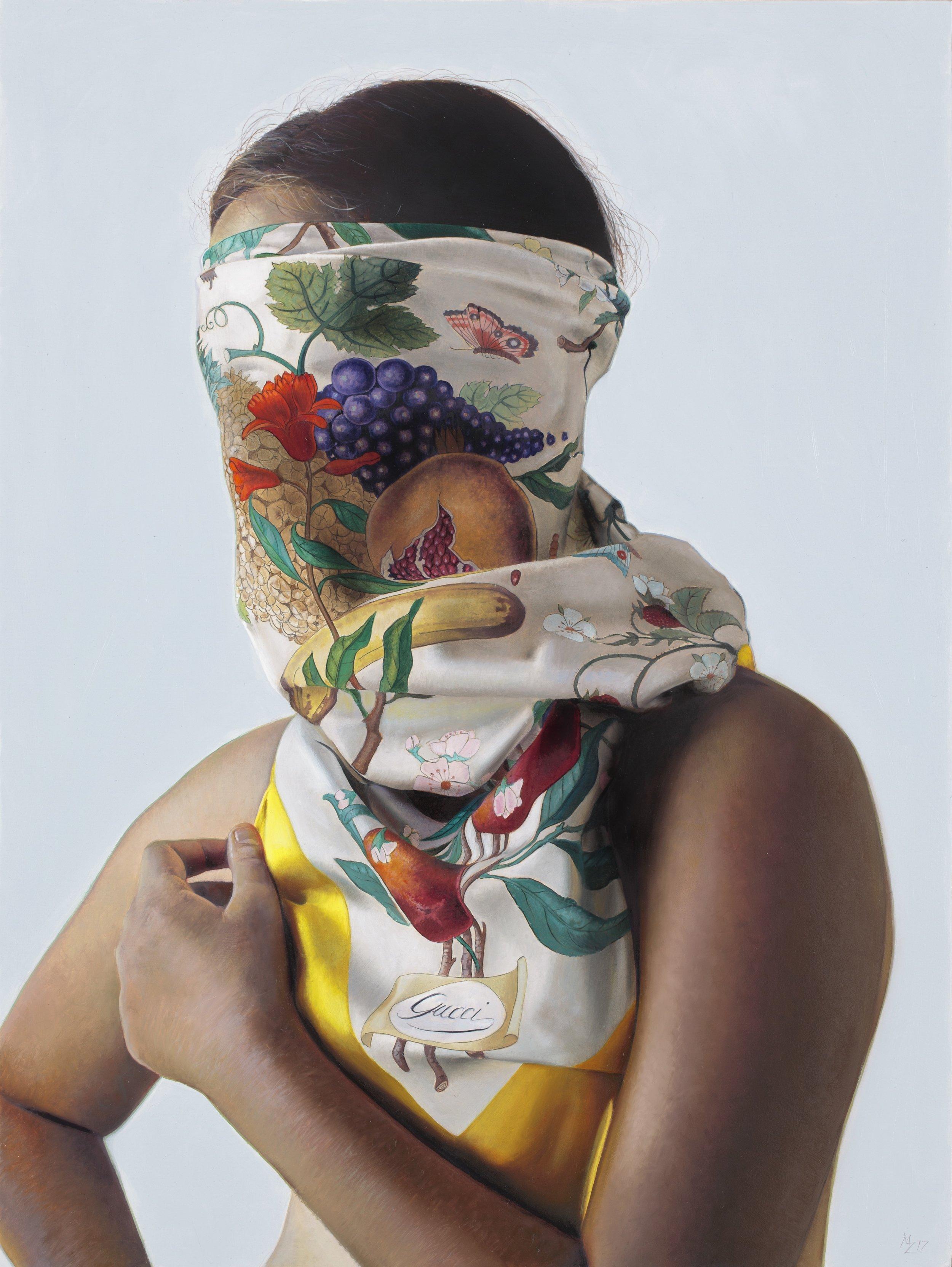 Michael Zavros, Summer Fruits, 2017, oil on aluminum, 400 x 300 mm