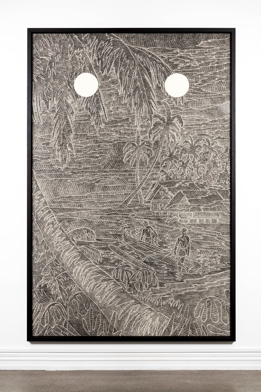 Laith McGregor,  Lowtide , 2016, pencil on paper, 2570 x 1570 mm