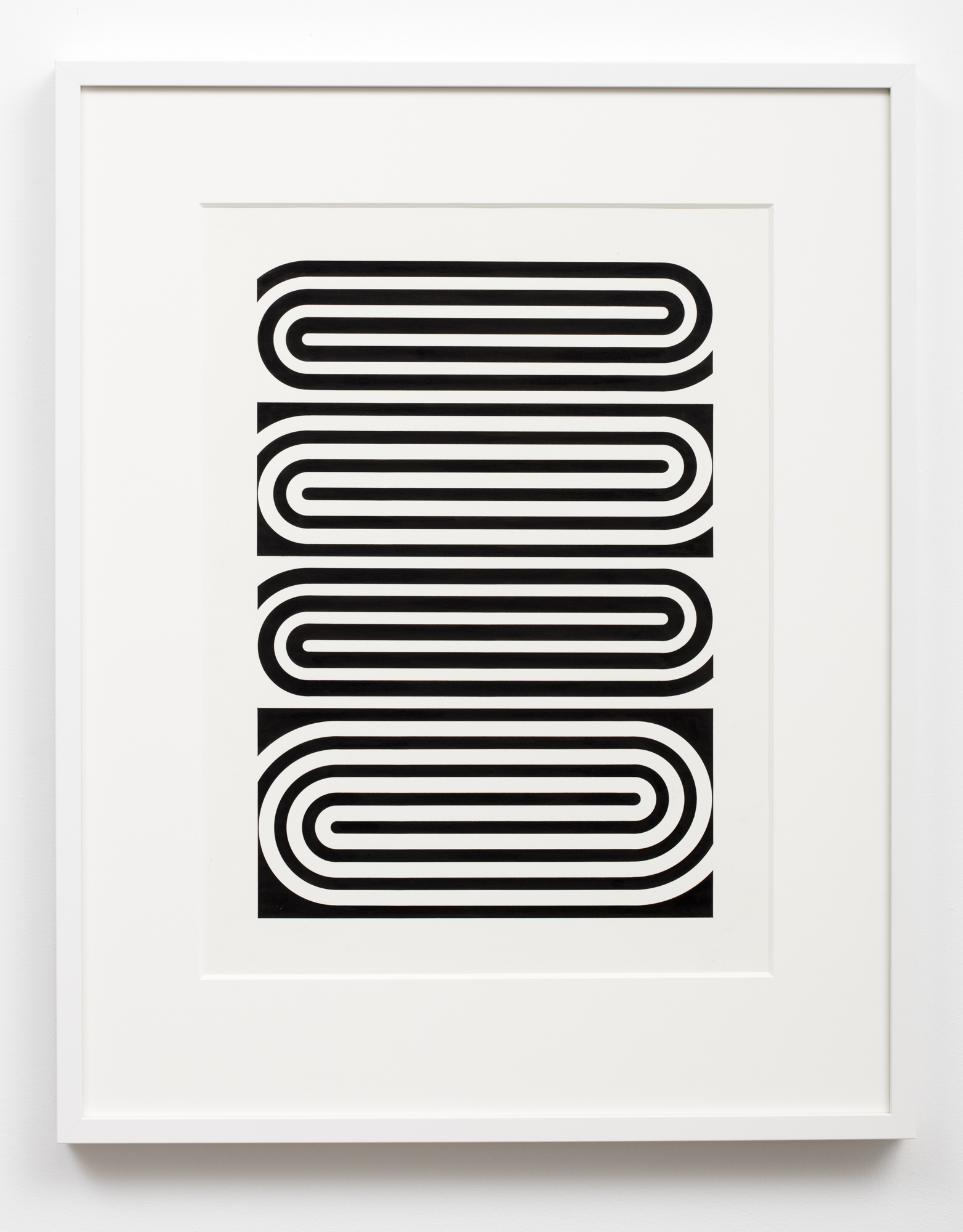 Gordon Walters,  Untitled , 1966, ink on paper, 515 x 315mm image size, courtesy of the Walters Estate