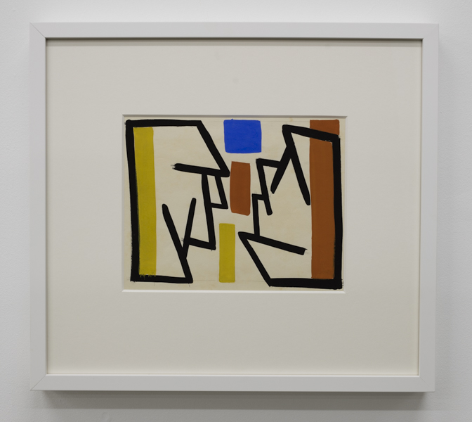 Gordon Walters,  Untitled , 1955, gouache, courtesy of Walters Estate