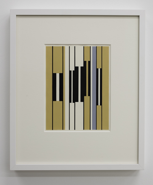 Gordon Walters,  Untitled , 1955, repainted 1975 (original damaged)  gouache, 390 x 290 mm, courtesy of the Walters Estate