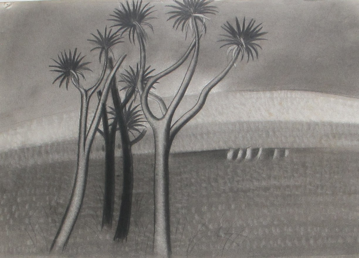 Gordon Walters,  Untitled , charcoal on paper, courtesy of the Walters Estate