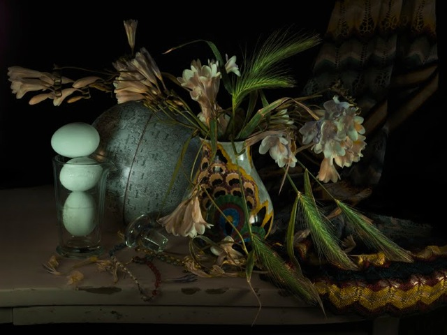 Still Life with Wild Wheat and Freesia, Waiheke 2011–12
