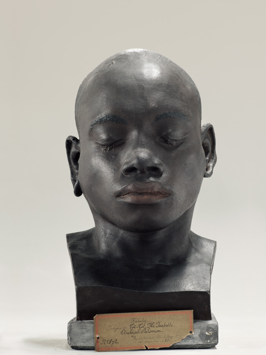 Portrait of a life cast of Kakaley (painted), Soloman Islands 2010