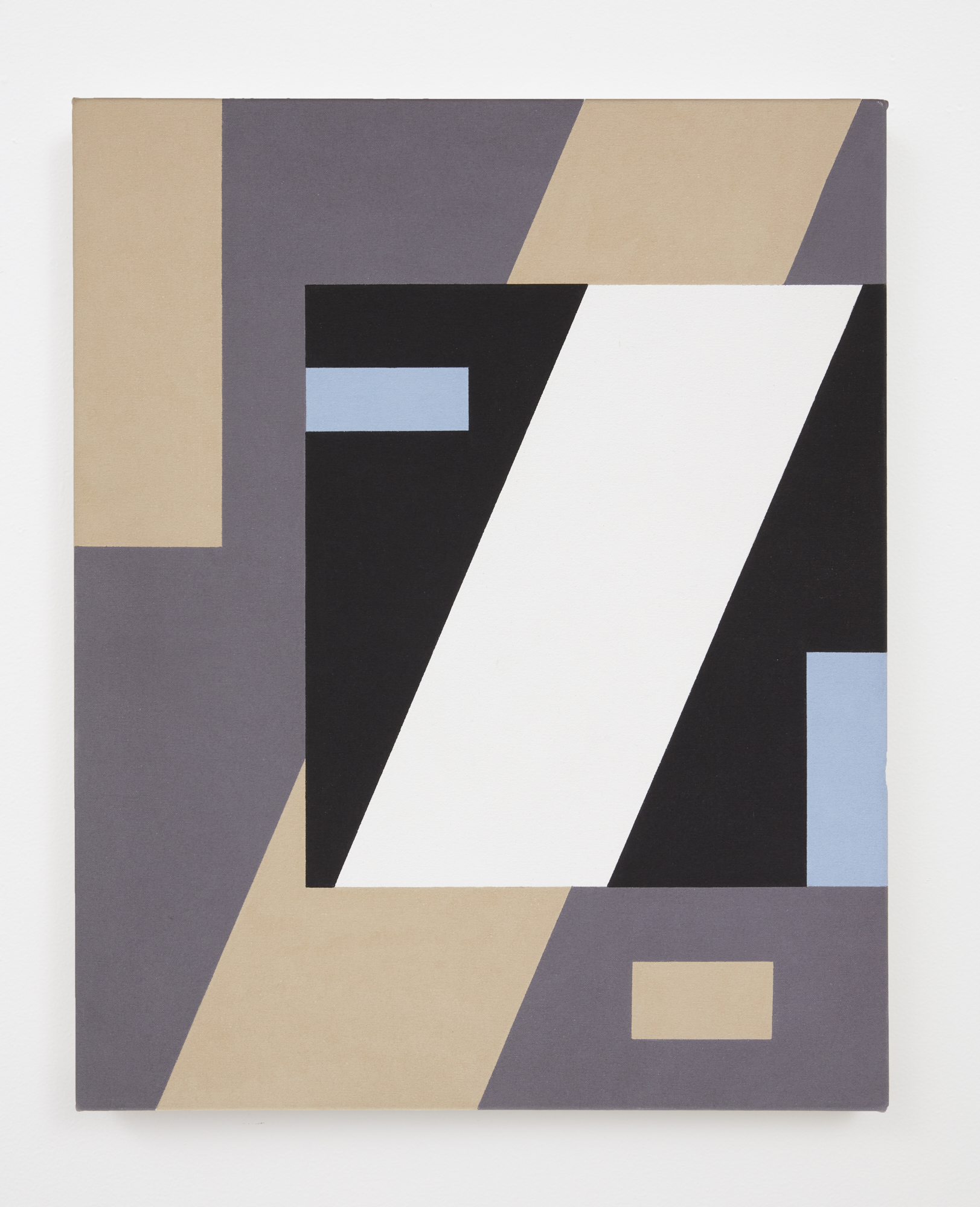 Gordon Walters,  Construction with Pale Blue , acrylic on canvas, 605 x 405, courtesy of the Walters Estate
