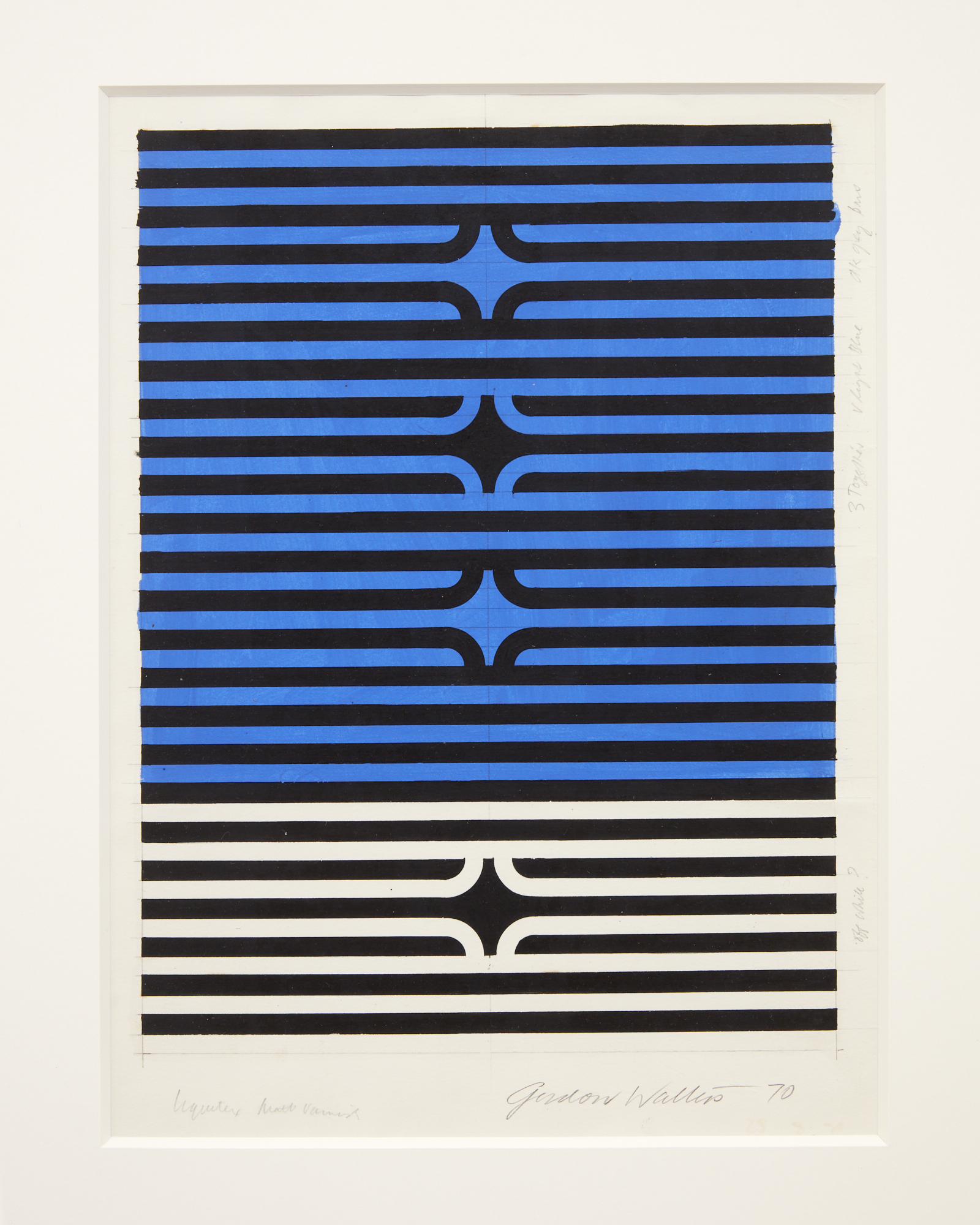 Gordon Walters,  Untitled, 1970 , acrylic on paper, 300 x 225 mm (image size), courtesy of the Walters Estate