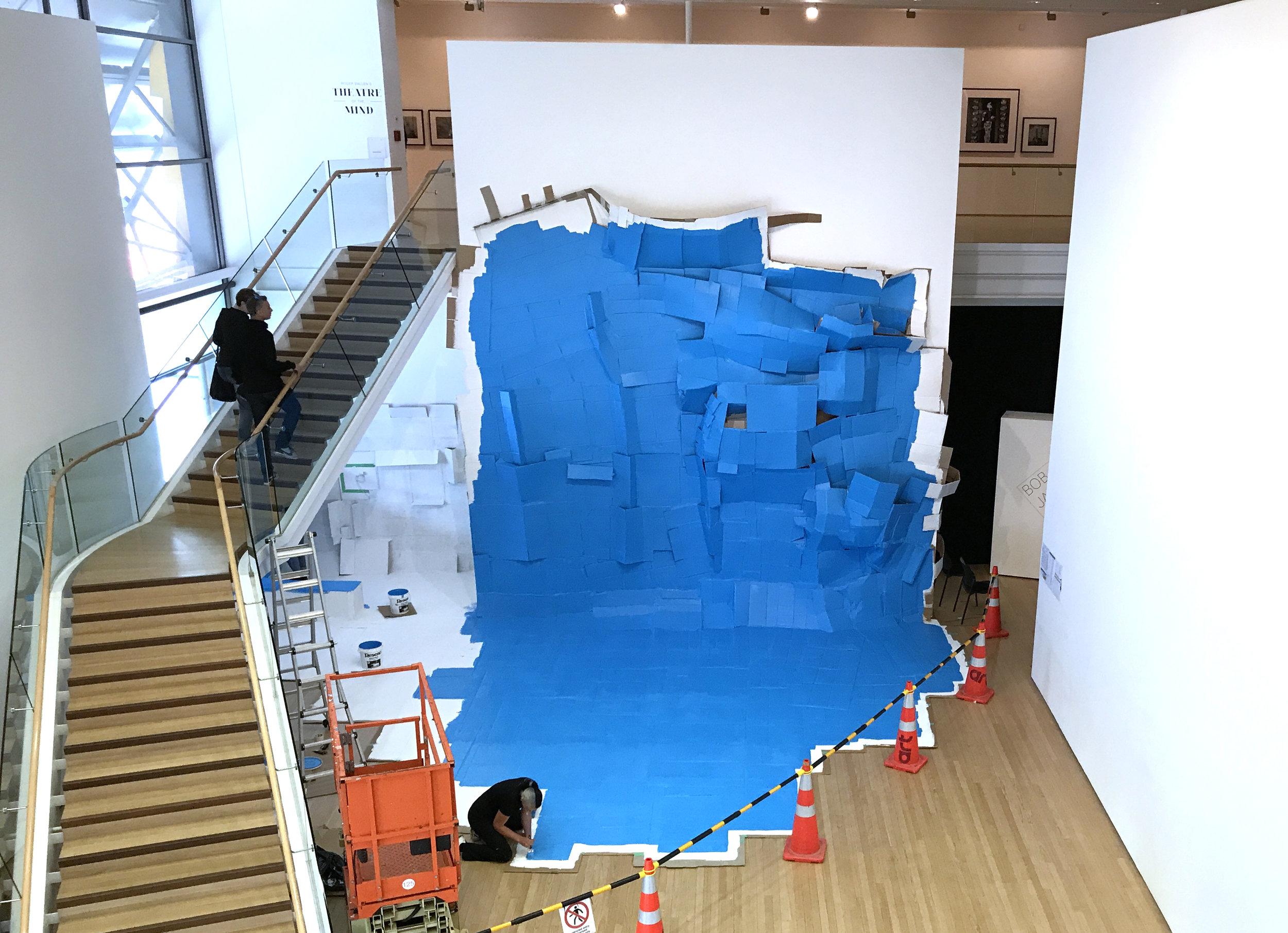 Cardboard Structure (blue), 2017, Tauranga Art Gallery