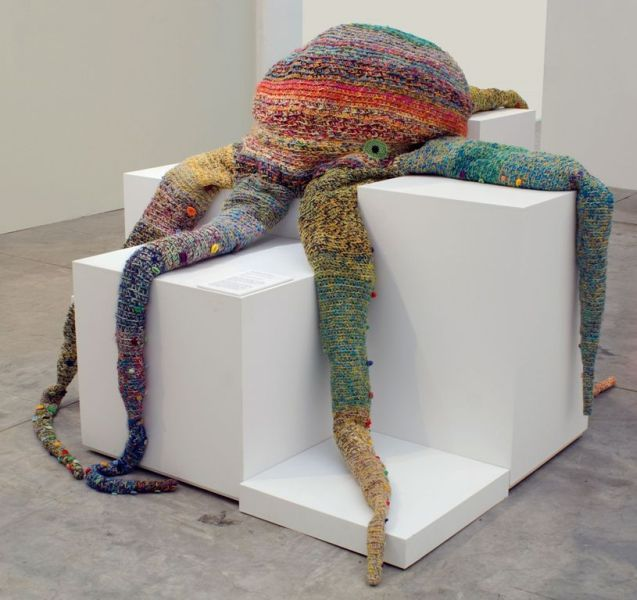 Ani O'Neill,  Fresh Eke . 2003, wool, re-cycled plastic bottles, collection of Auckland Art Gallery Toi Tamaki