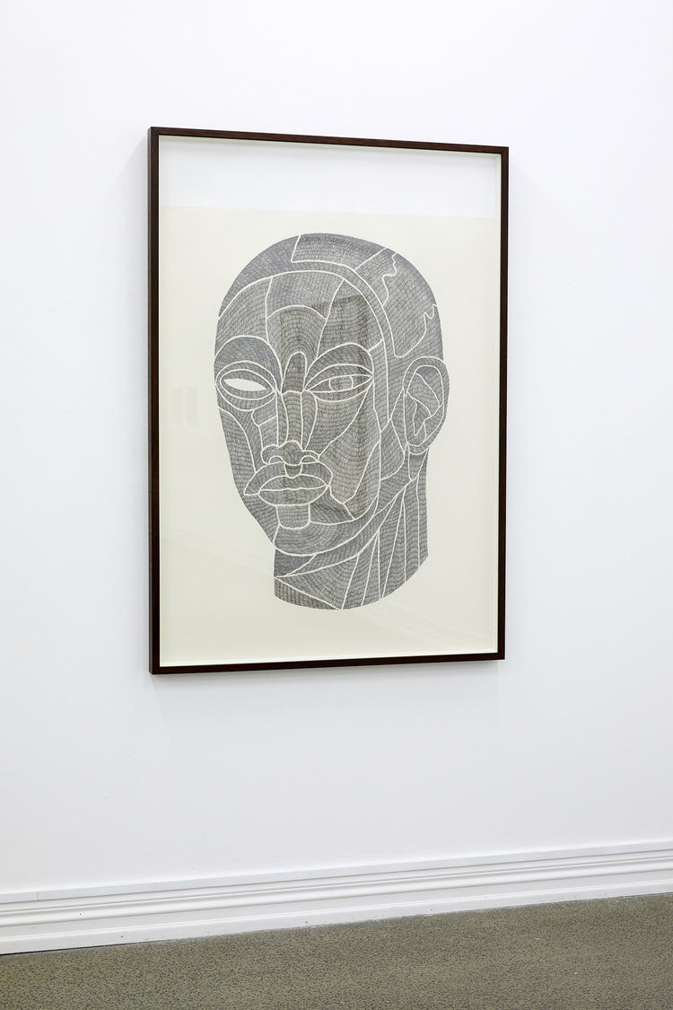 Laith McGregor,  Welcome , 2019, pencil on paper, 1460 x 1000 mm (paper size)
