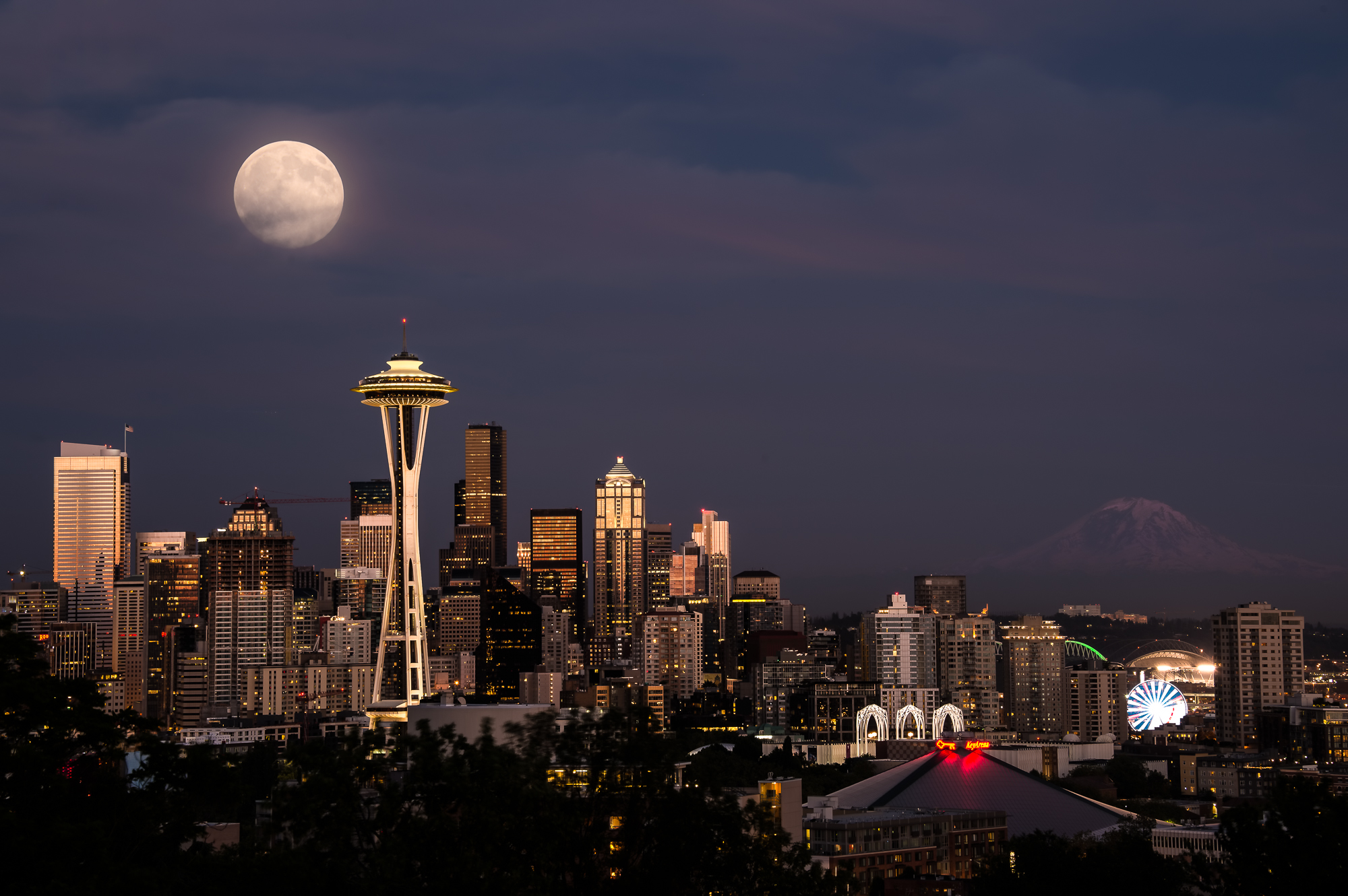 Seattle Super Moon
