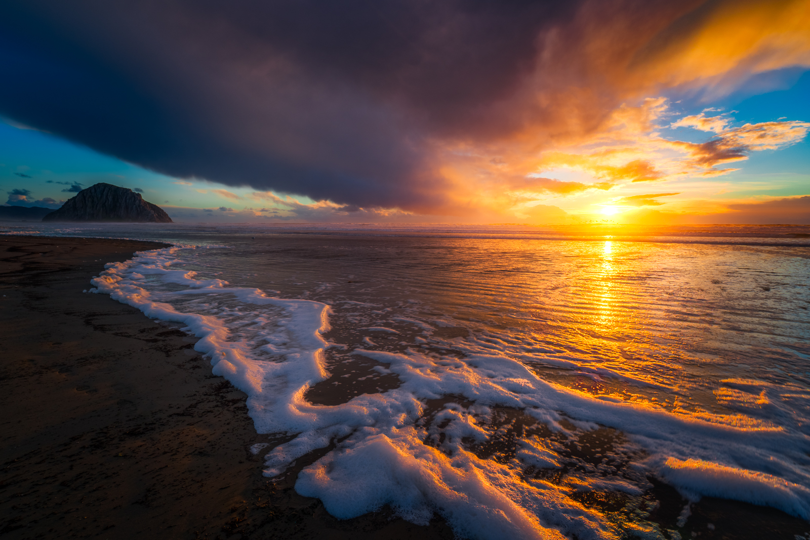 Sea Foam Sunset