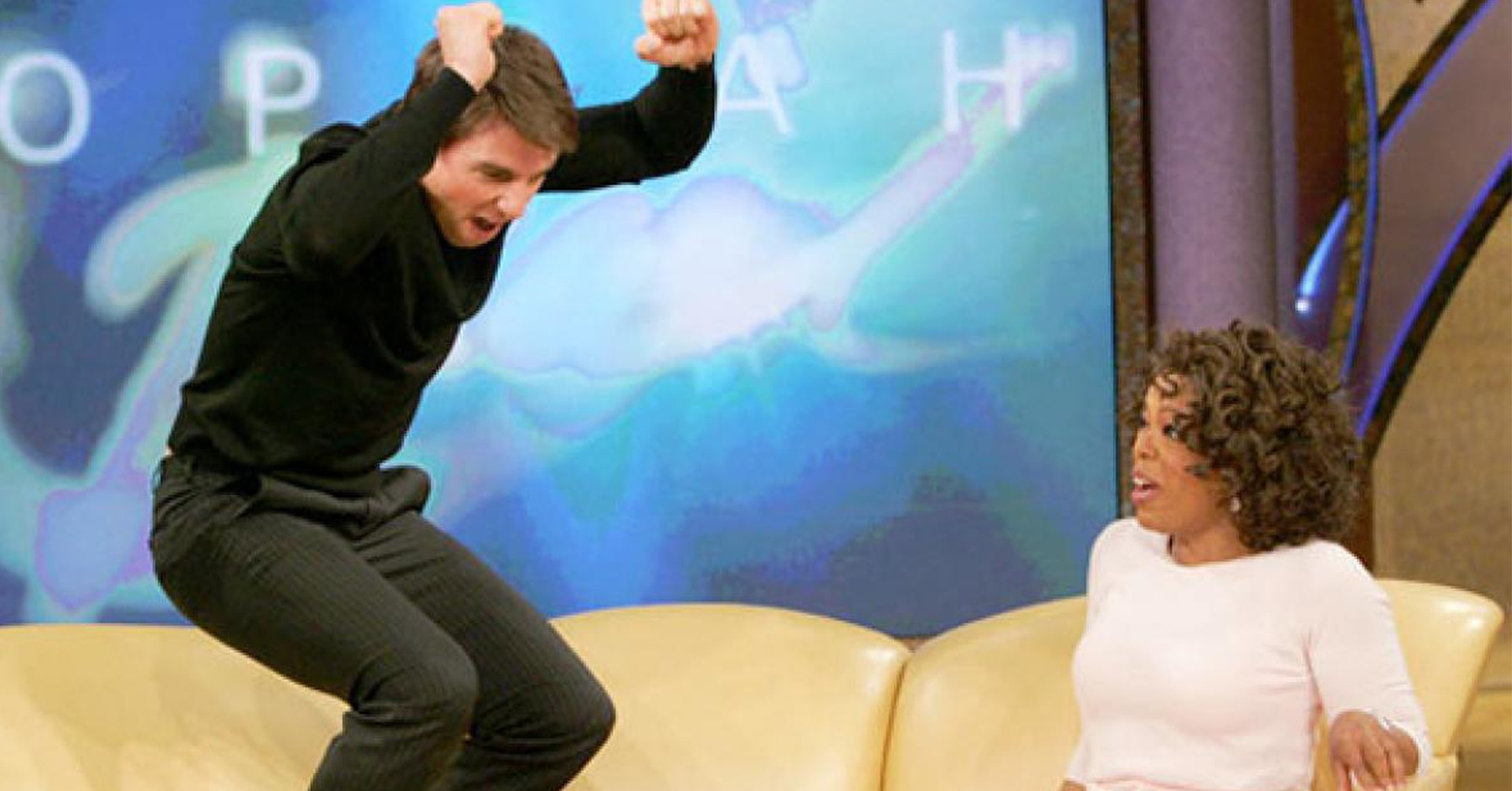 Tom Cruise illustrating clamorous foolishness