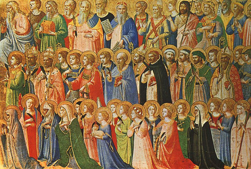 """""""The Forerunners of Christ with Saints and Martyrs"""" (about 1423-24) by Fra Angelico"""
