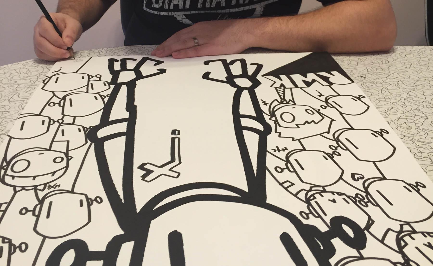 ChrisRWK print signing