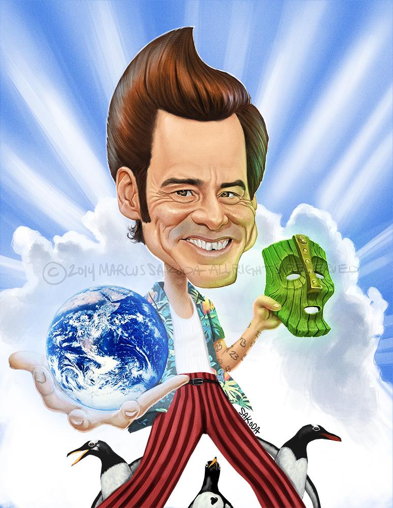 Caricature compilation of Jim Carrey, 2014