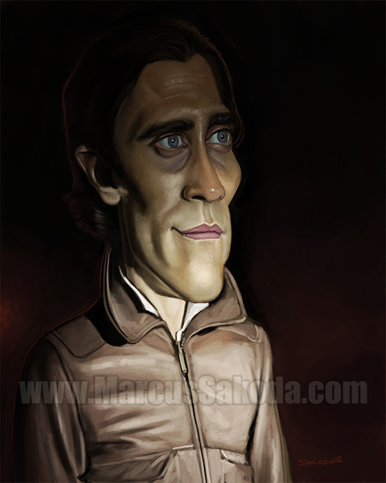 Jake Gyllenhaal Caricature 8inx10in digital