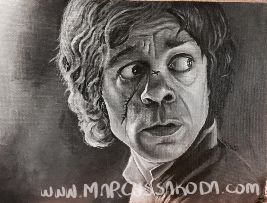 Tyrion Lannister, aka Peter Dinklage 9x12 in acrylic on canvas