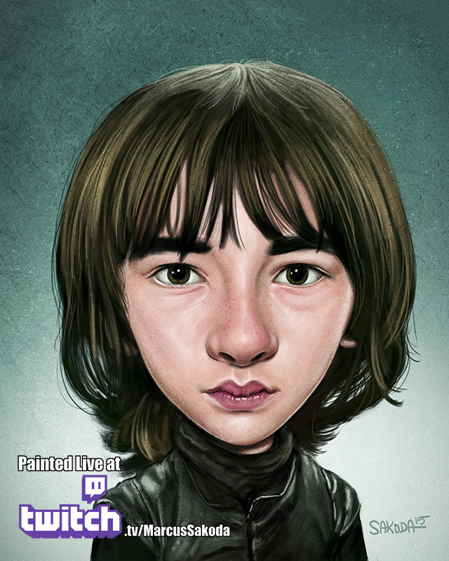 Bran Stark Caricature