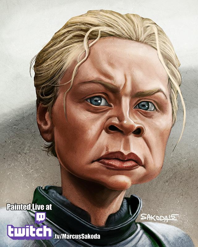 Brienne of Tarth Caricature