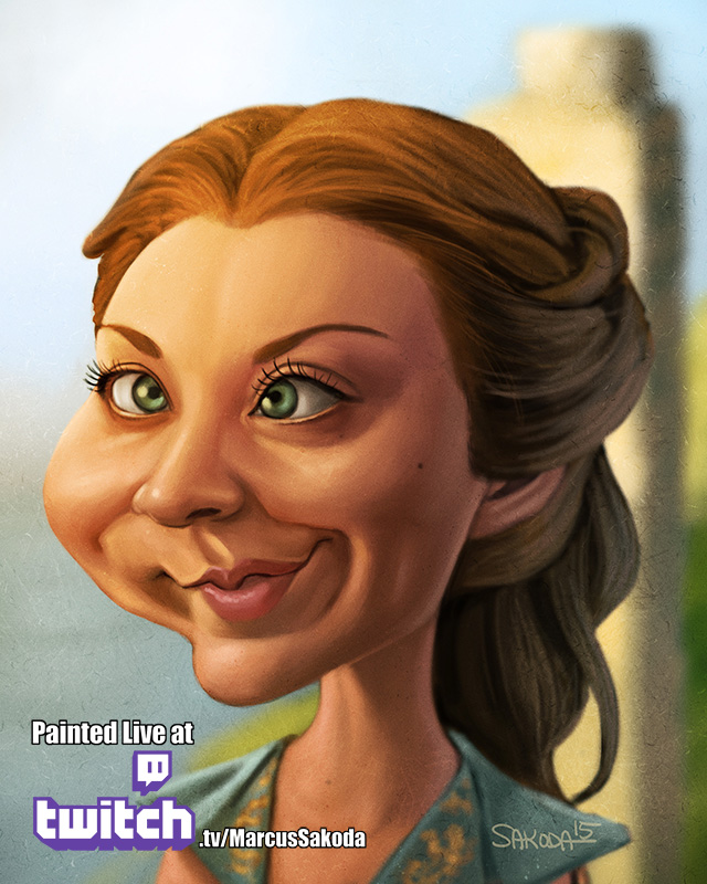 Margeary Tyrell Caricature