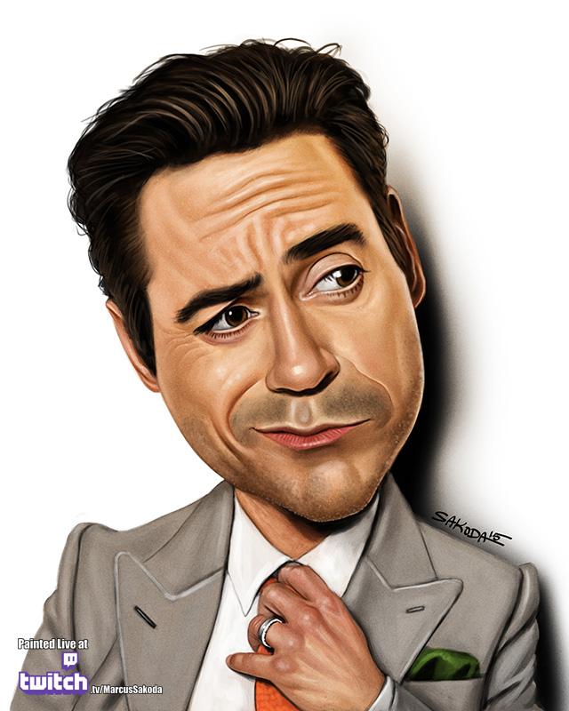Robert Downey Jr Caricature