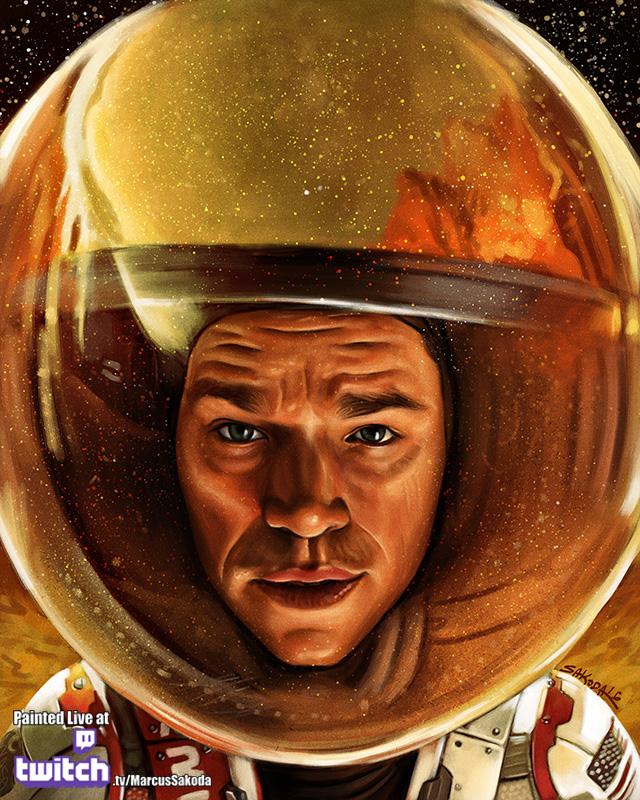 Matt Damon as the Martian