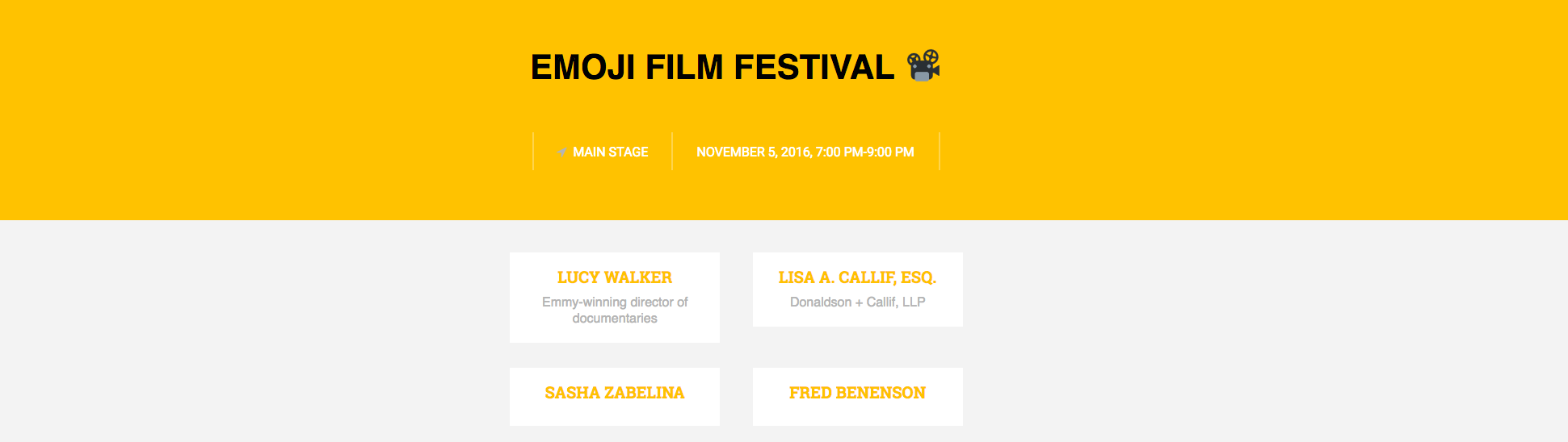 Because of the project, I was invited to participate at the first  emojicon  and be on the panel of speakers for the Emoji Film Festival in San Francisco.