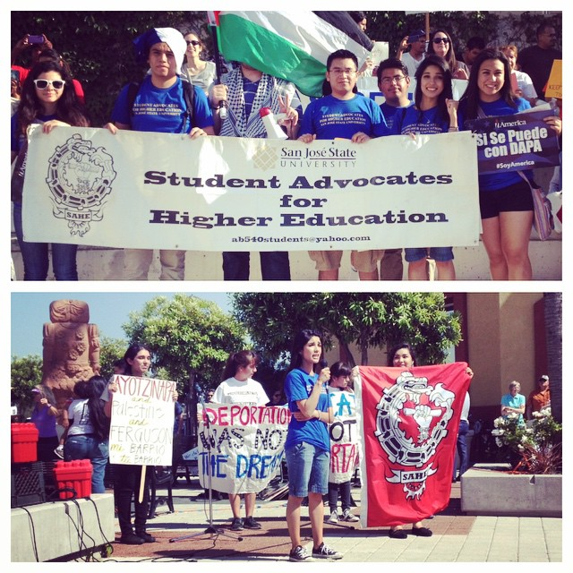 "Question (@cesarjuarezruiz) : ""Do you think immigration reform will happen this year?"" Answer (Alberto) : ""It will, if we fight for it""  #MAYDAY2015 #SAHESJSU #SanJose #ImmigrationReform #studentpower"