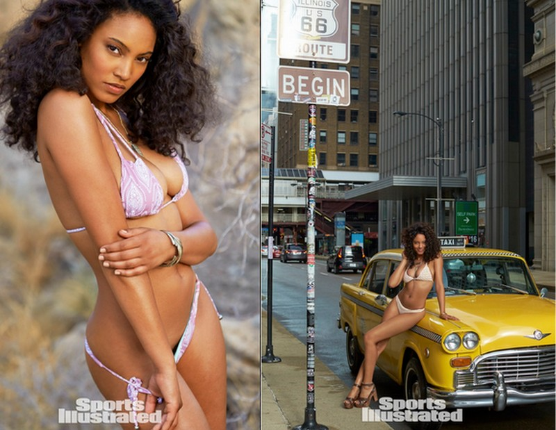Ariel Meredith photographed by Ben Watts in  MAUI GIRL by DEBBIE WILSON  and  TORI PRAVER