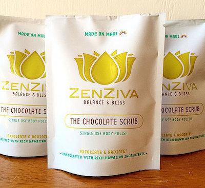Top 5 Made in Hawaii Scrubs, Zenziva Chocolate Scrub via TheEditHawaii.com