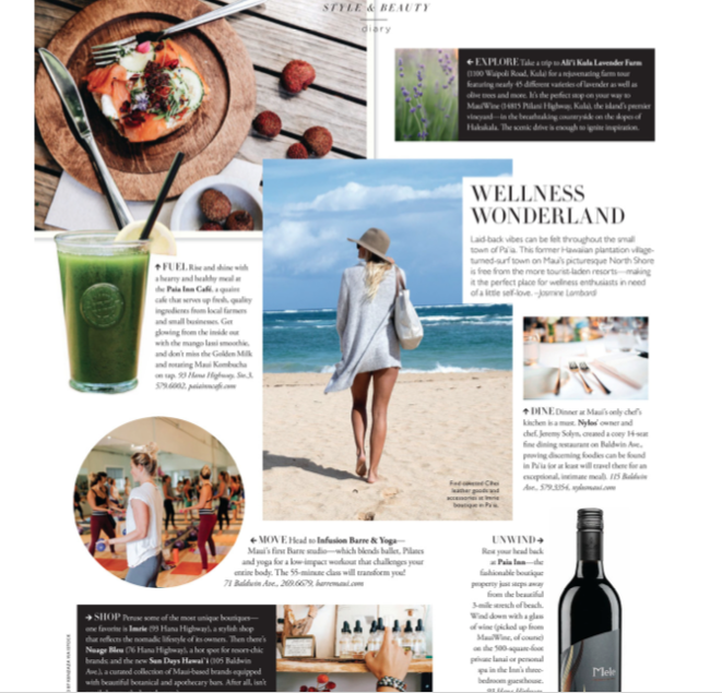 MODERN LUXURY HAWAII: WELLNESS WONDERLAND - Maui's North Shore hot spot is a haven for health. Here's where to eat, shop and sweat.