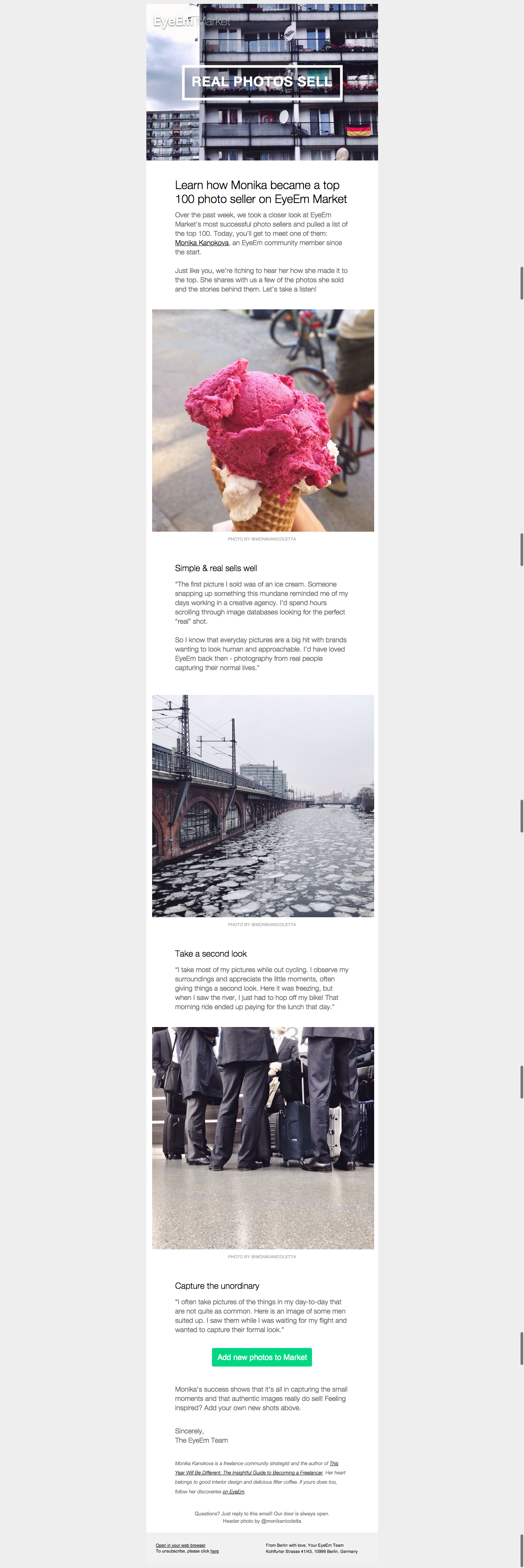 eyeem newsletter