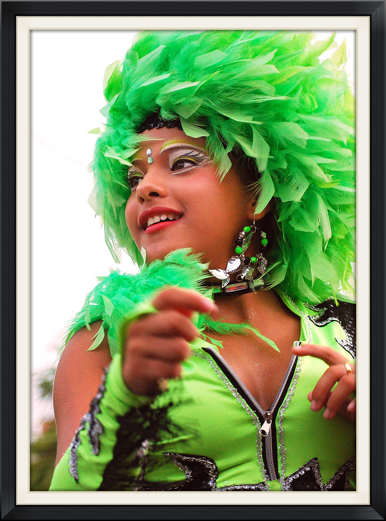 Green Feather Girl