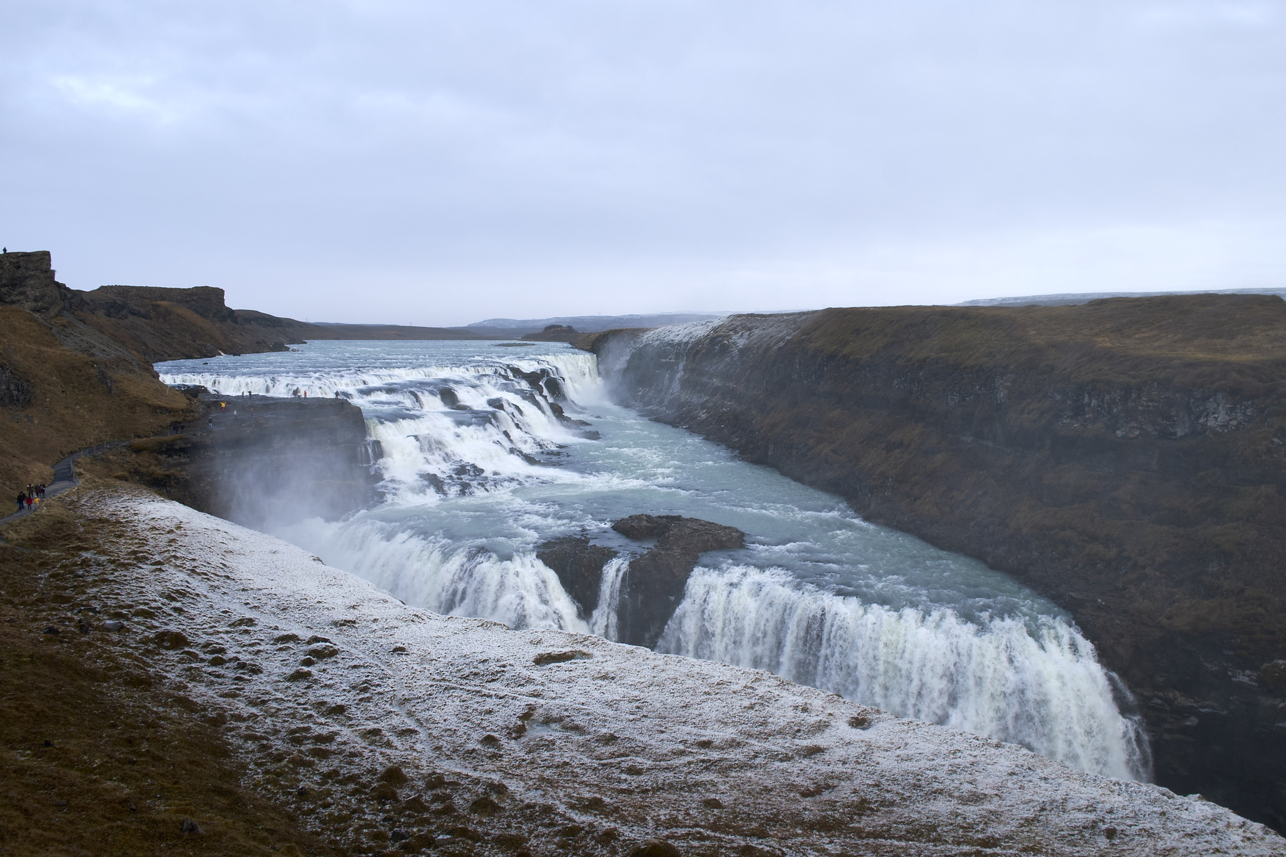 The stunning Gullfoss (Golden Waterfall), is fed by Iceland´s second biggest glacier, the Langjökull.