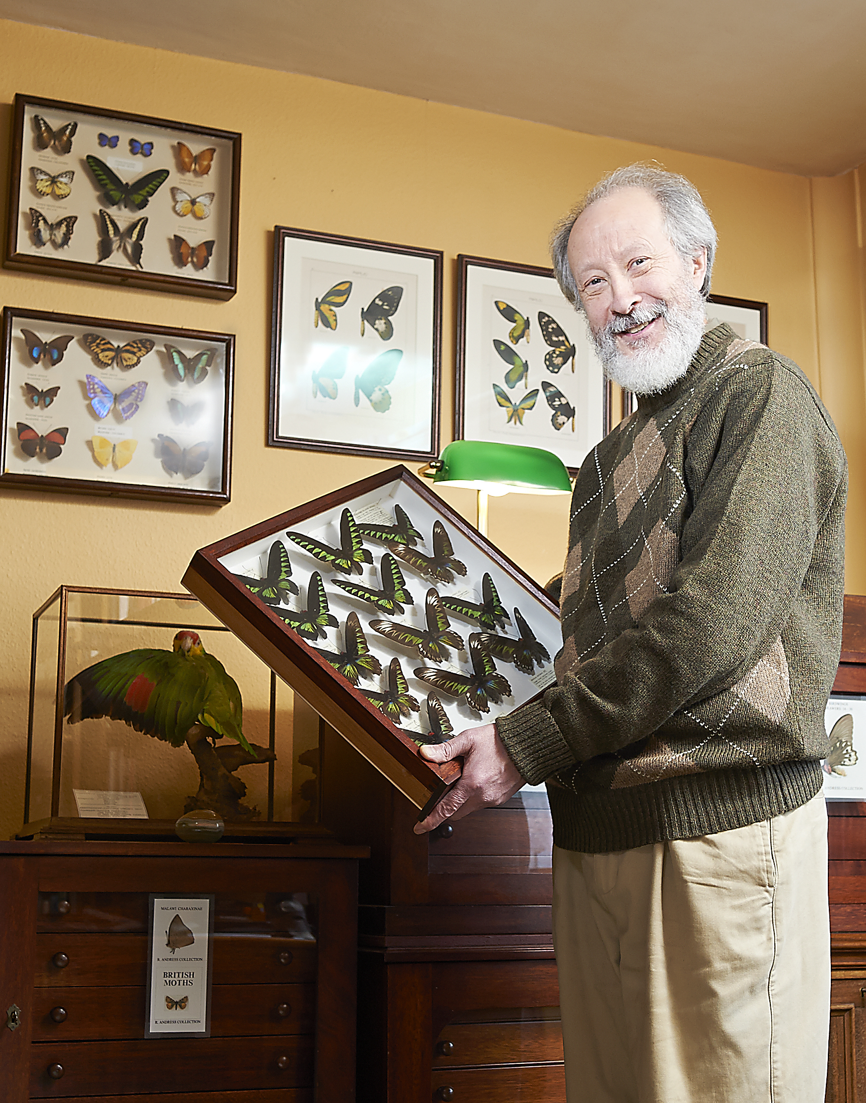 A very proud Ray with a small selection of his butterfly collection. What this guy doesn't know about butterflies & dragonflies...  His collection is to be bequeathed to The Natural History museum. Cool!
